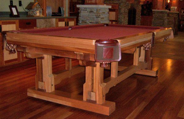 timber frame pool table