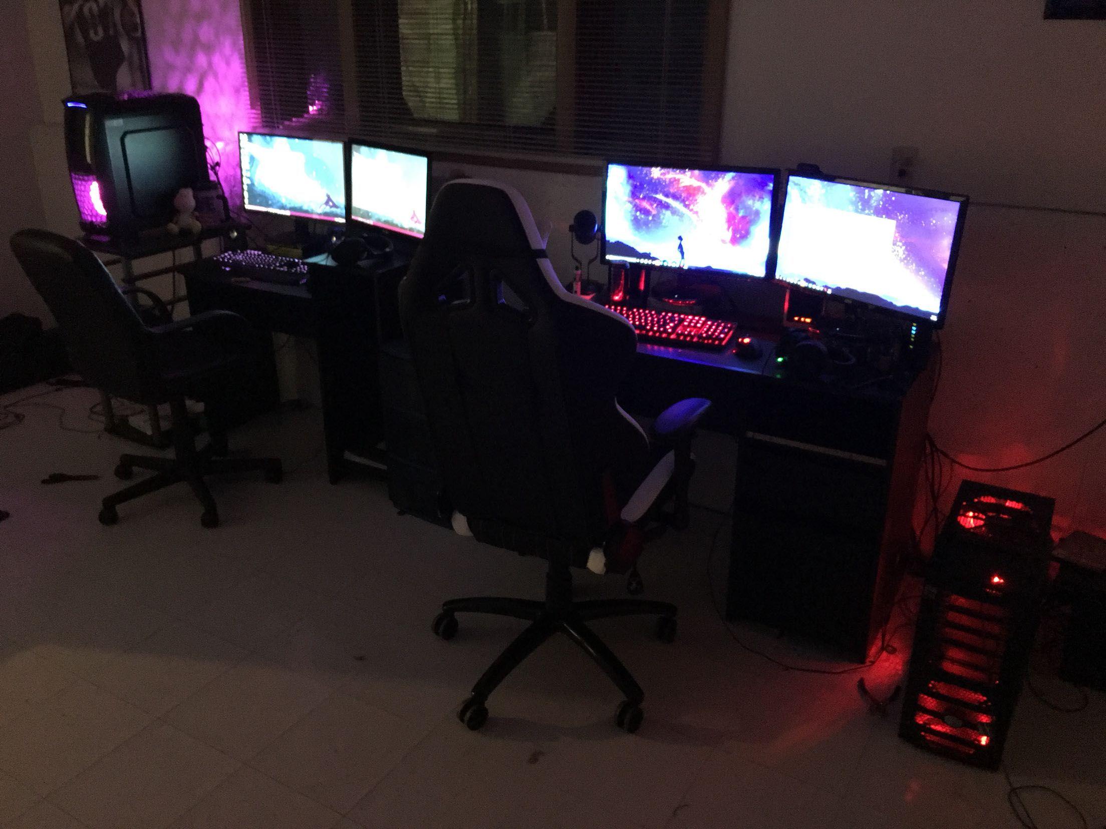 His And Hers Gaming Computer Room Custom Gaming Computer Computer Setup