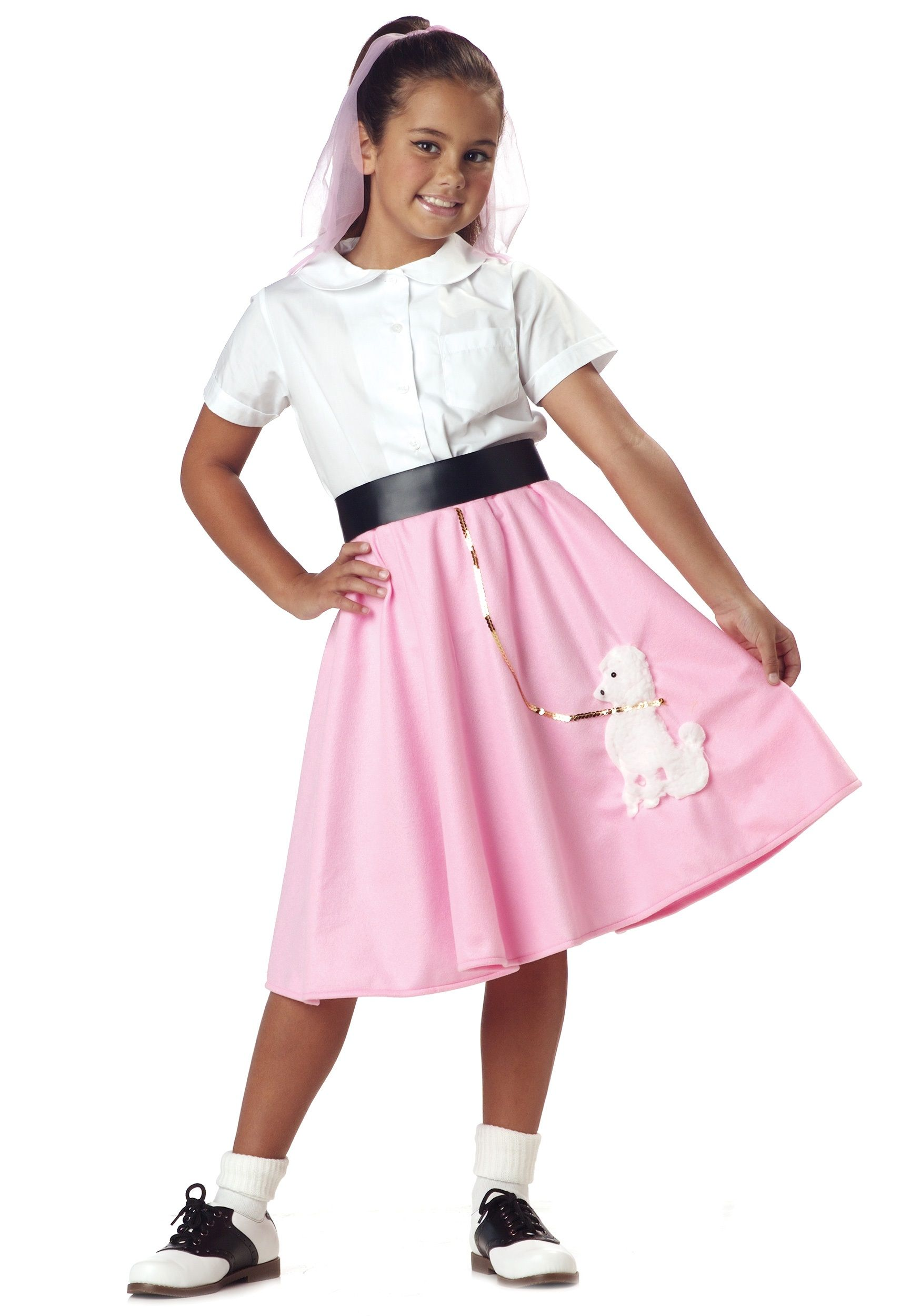 Girls Costumes - This Girls 50u0027s Pink Poodle Costume Skirt features a delicate pink body and  sc 1 st  Pinterest & Girls Costumes - This Girls 50u0027s Pink Poodle Costume Skirt features ...