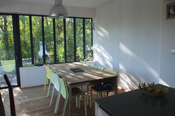 Une cuisine ouverte sur la nature 2 Bay windows Pinterest