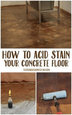 How To Acid Stain Your Concrete Floor Diy Stained Outdoor