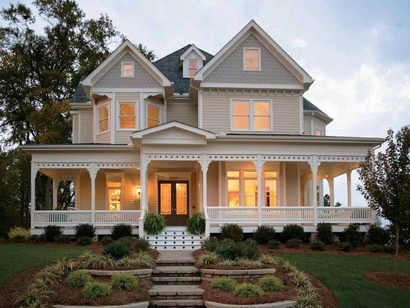 Country style 2 story 4 bedrooms s house plan with 2772 for New victorian style homes