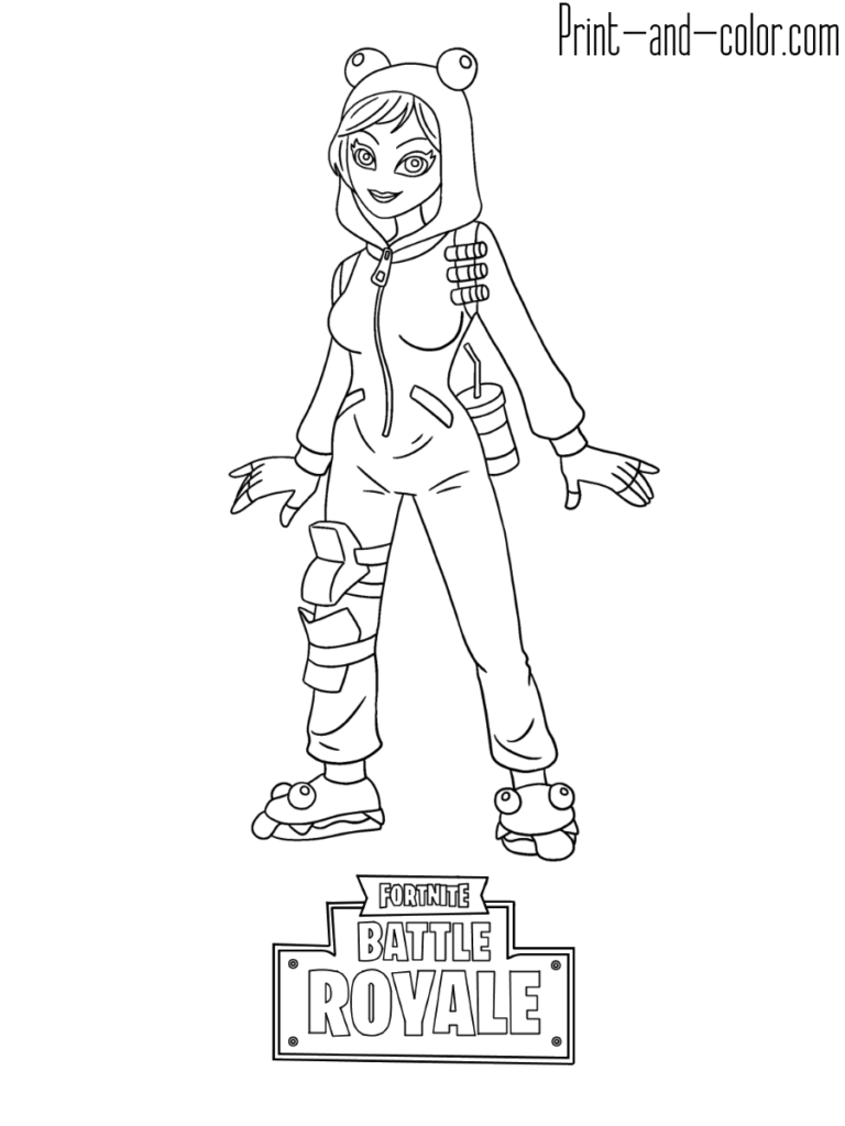 Fortnite Battle Royale Coloring Page Onesie Skin Coloring Pages Fortnite Coloring Pages For Kids