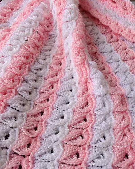 Broomstick Lace Baby Afghan Crochet Pattern