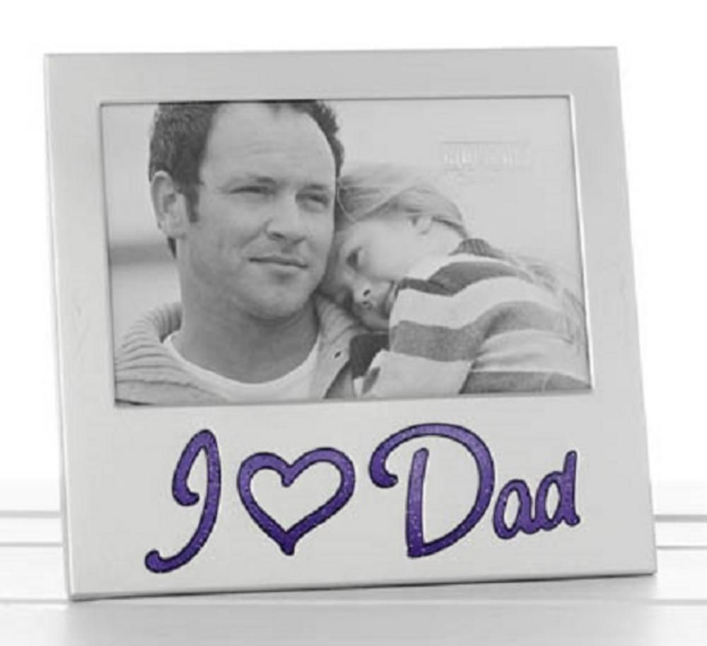 I Love Dad Glitter Word Aluminium Photo Frame 6\