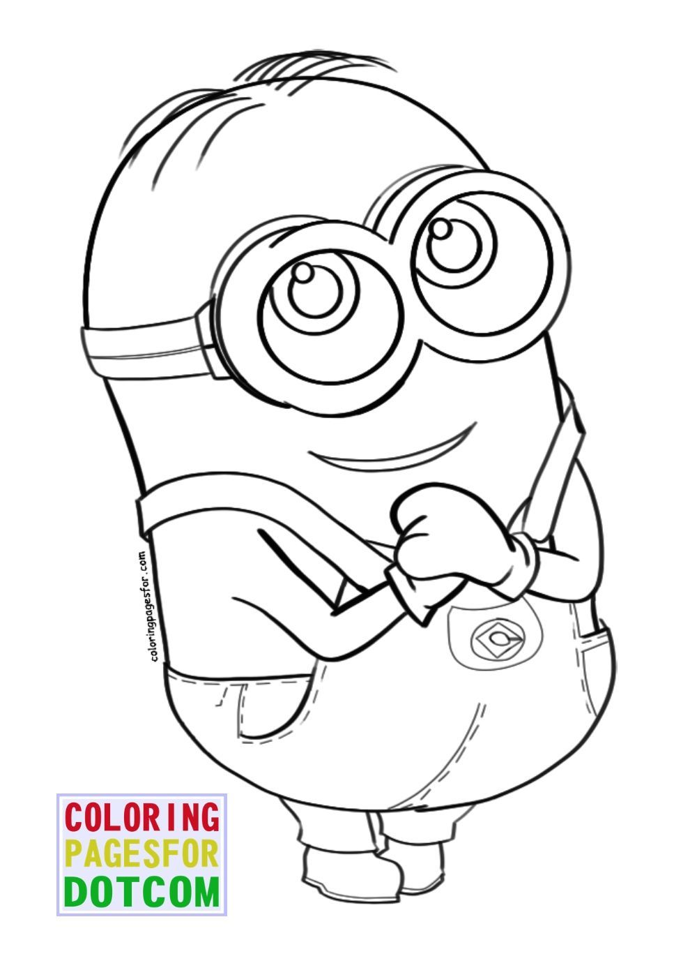 Minion Coloring Pages To Print Kid Minion Coloring Pages
