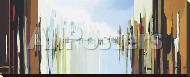 Urban Abstract No. 242 by Felix Hug Landscapes Stretched Canvas ...