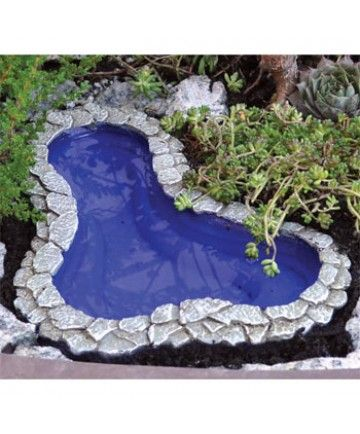 Fairy Garden Pond - Medium - Fairy Garden Miniatures - Dollhouse Miniatures