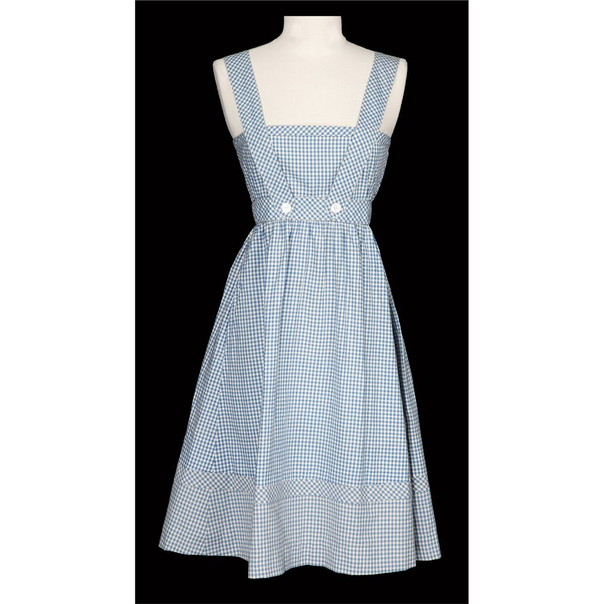 White apron pinafore - Judy Garland Screen Used Dorothy Gale Blue And White Gingham Pinafore Dress From