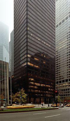 Ad Classics Seagram Building Mies Van Der Rohe Architecture