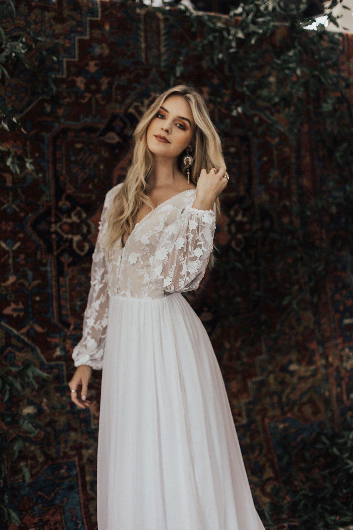 3d Cotton Lace And Silk Chiffon Flowy Wedding Dress Silk Chiffon Wedding Dress Wedding Dress Trends Wedding Dresses