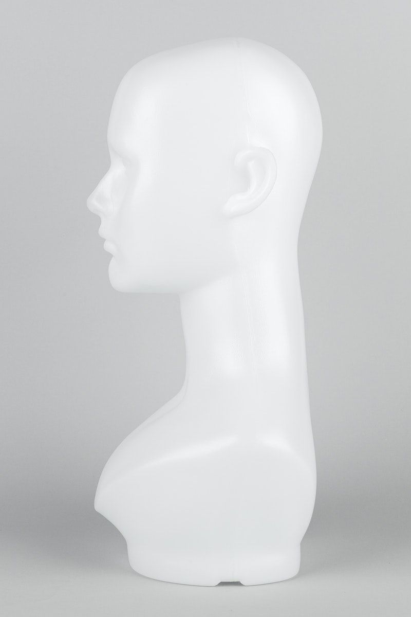 White Mannequin Head In Profile On A Gray Background Free Image By Rawpixel Com Roungroat Mannequin Heads Image Gray Background