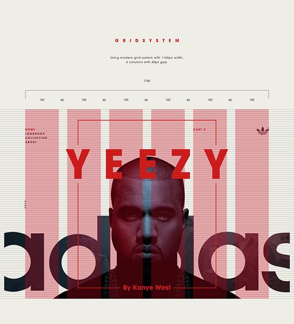 representación Garantizar He aprendido  Adidas Yeezy Microsite on Behance | Design, Banner design, Web app design