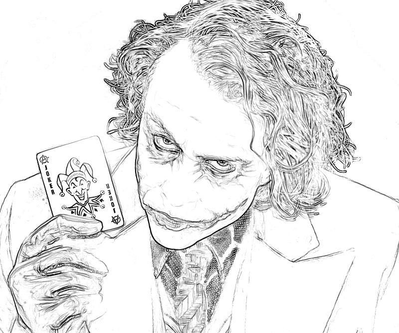 Batman arkham city joker coloring pages
