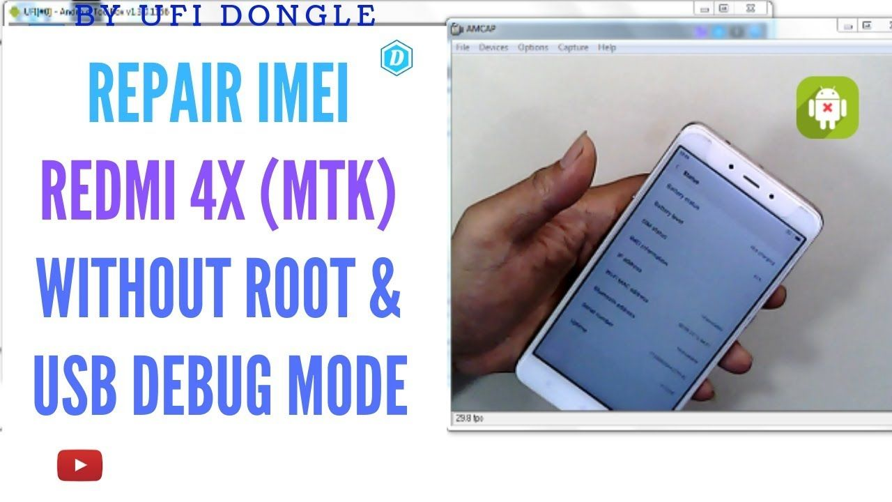 REDMI NOTE 4X MTK ( NIKEL ) REPAIR IMEI BY UFI DONGLE - YouTube