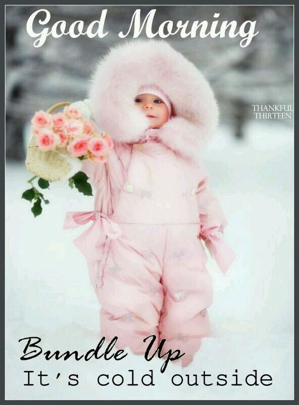 Bundle Up Its Cold Outside Baby In Pink With Pink Flowers Good