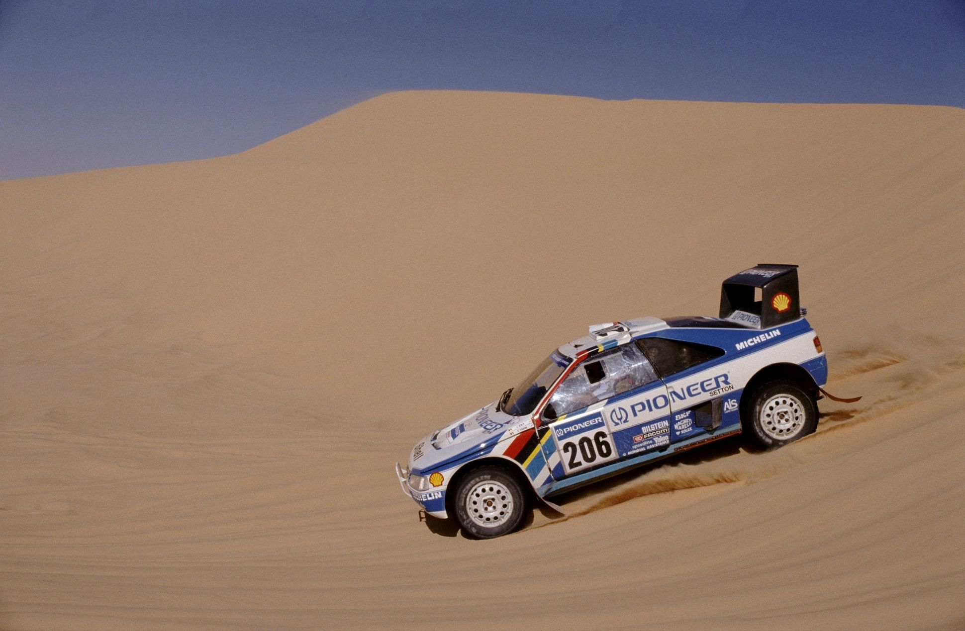 Peugeot 405 Turbo 16 Grand Raid (Icks / Tarin) - Dakar Rally 1989.