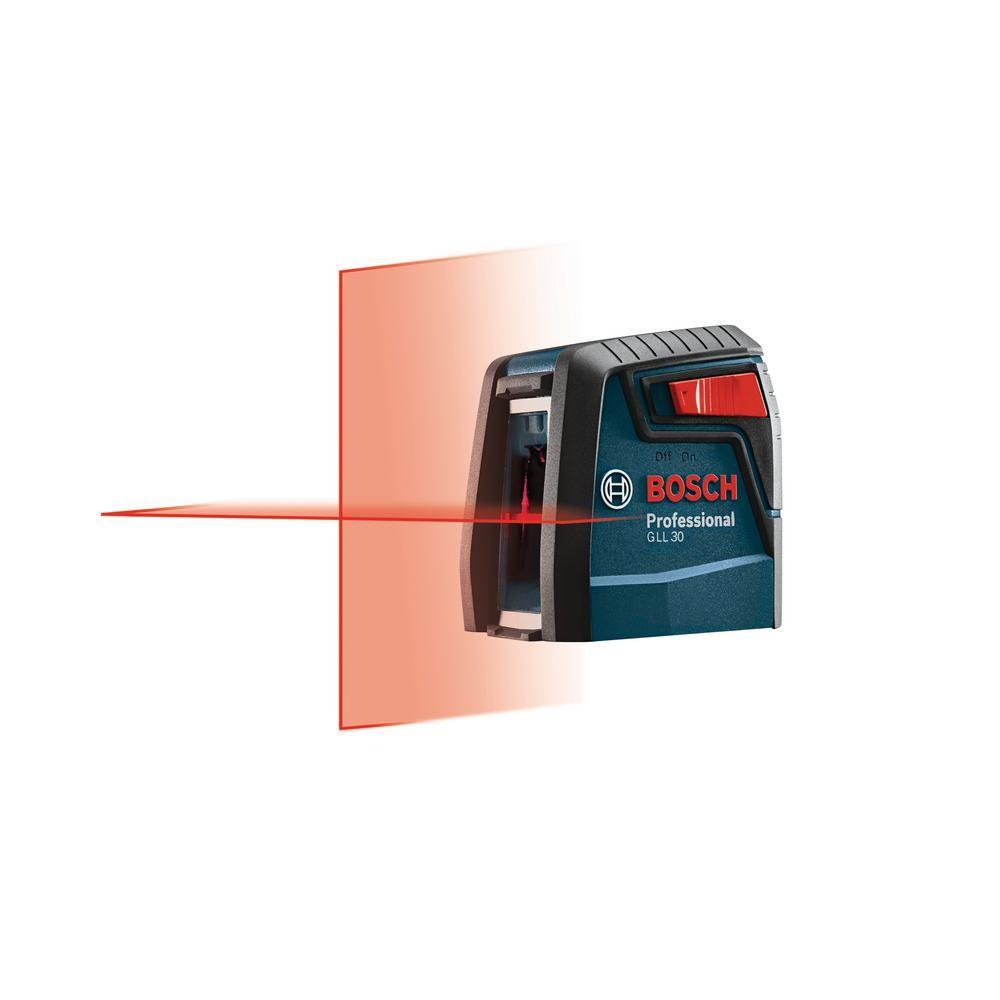 Bosch Factory Reconditioned 30 Ft Self Leveling Cross Line Laser Level Kit Home Depot Adjustable Legs Ebay