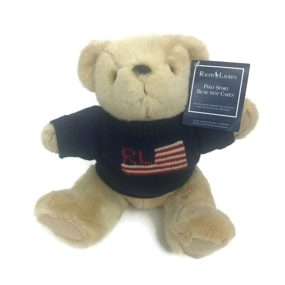 Vintage 1996 Ralph Lauren Polo Bear Plush Teddy Bear Flag Sweater Rl Stadium 14 Poloralphlauren Teddy Bear Plush Bear Plush Teddy Bear [ 1000 x 1000 Pixel ]