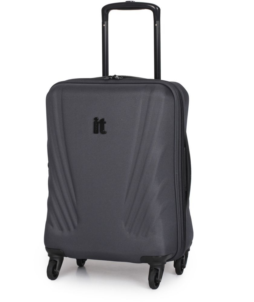 Buy IT Luggage Frameless Small 4 Wheel Suitcase - Charcoal at ...