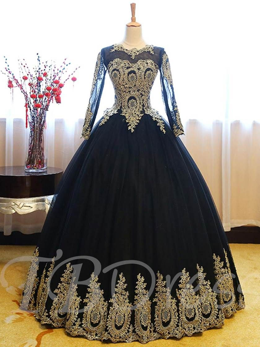 e1d957c4bb33 Appliques Scoop Ball Gown Quinceanera Dress | WhatNext | Quinceanera ...