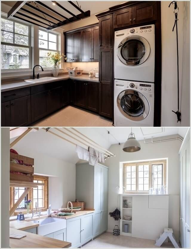 10 Clever Clothes Hanging Solutions For Your Laundry Room 7
