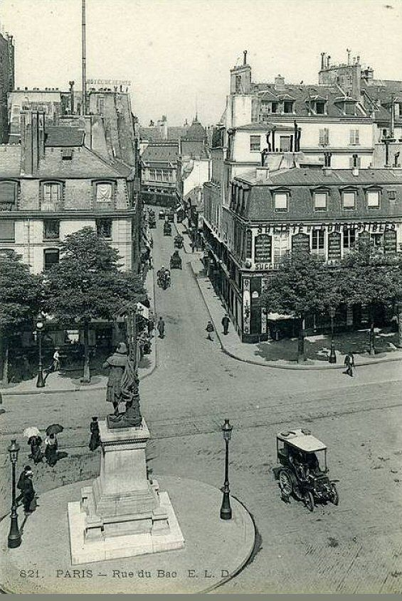 belle perspective de la rue du bac vers 1905 paris 7 me. Black Bedroom Furniture Sets. Home Design Ideas
