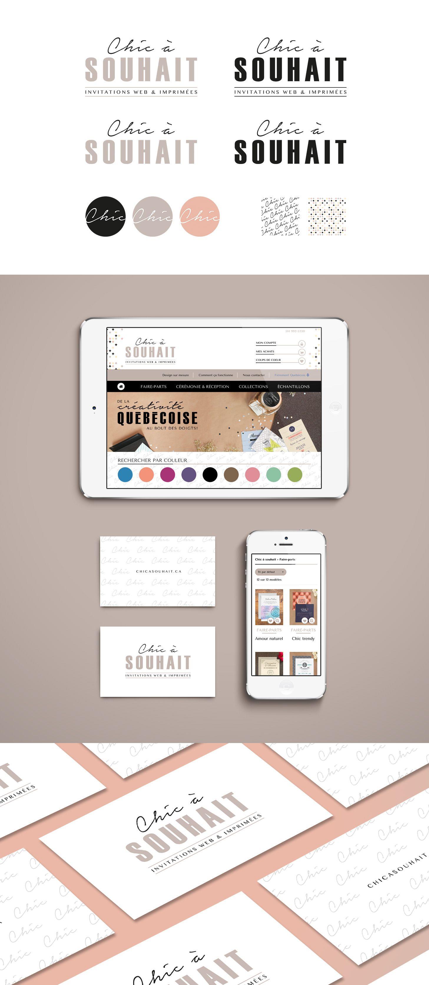 Boutique Design En Ligne identité visuelle - branding - pour boutique en ligne d'invitations