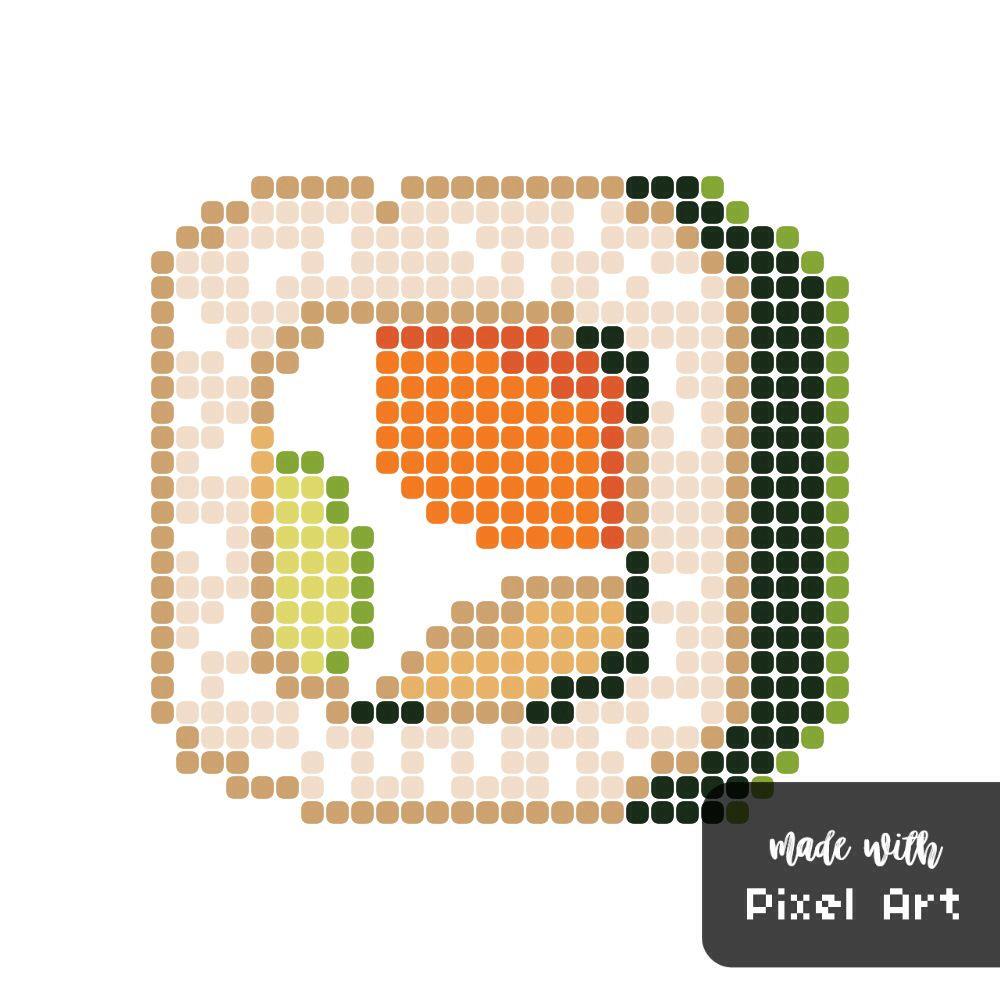 Sushi Pixel Art Cross Stitch Art Pixel Art Cross Stitch