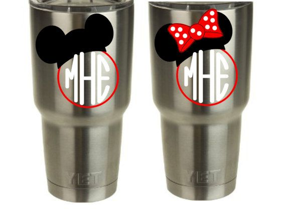 Monogram Mickey Amp Minnie Vinyl Decal For Yeti Cup Tumbler