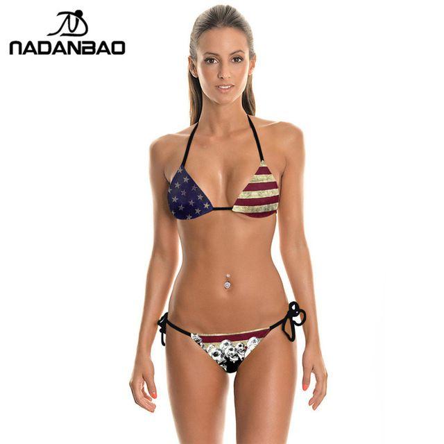 699820facb8d Bikinis 2018 Mujer Plavky las mujeres Bikini traje de desgaste de la ...