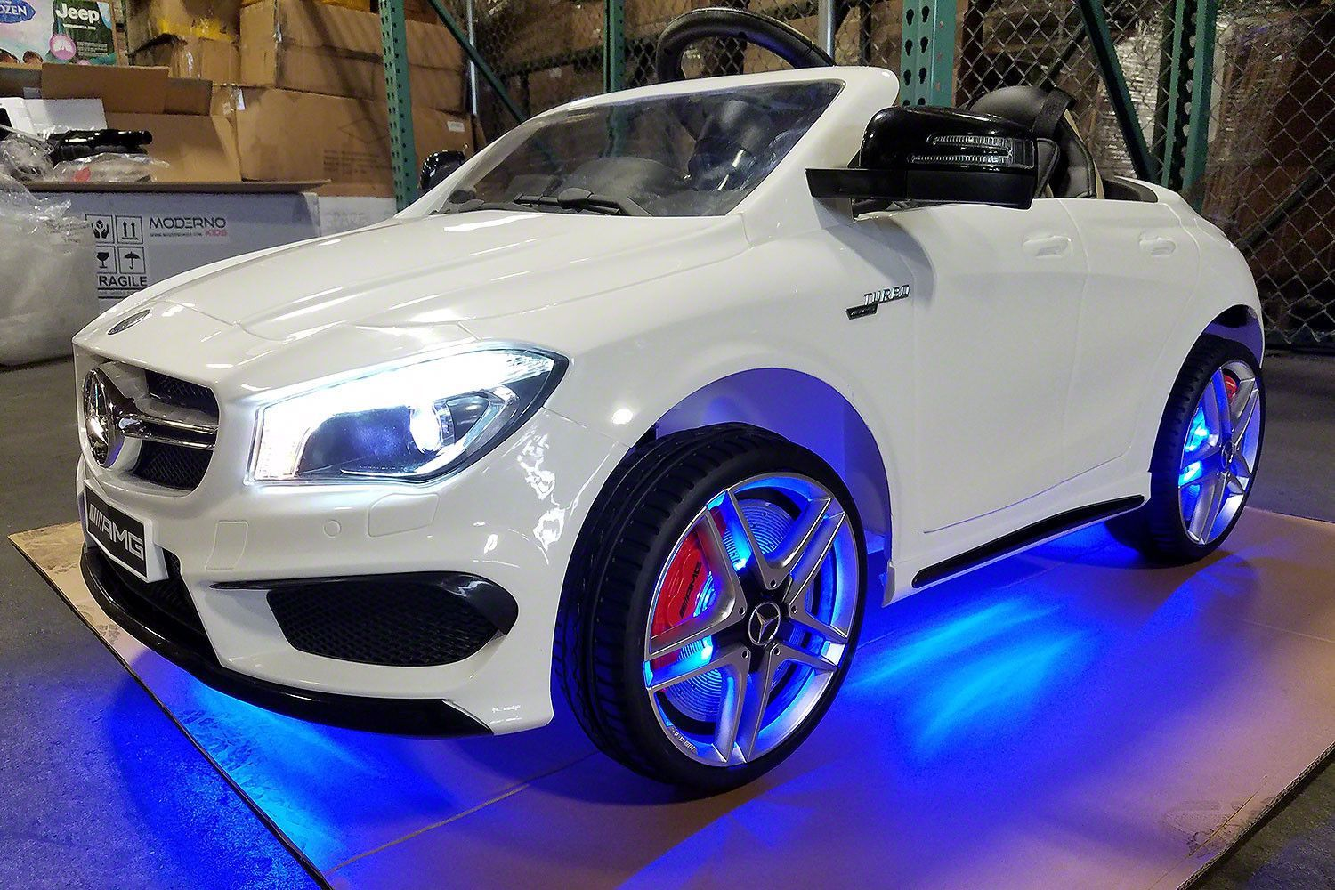 Mercedes benz cla45 kids ride on car toy mp3 usb 12v bat for Red mercedes benz power wheels
