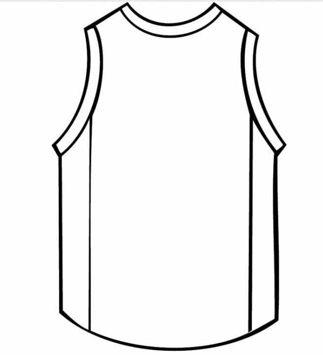 Basketball Jersey Color Pages For Children Or Face Painting Idea