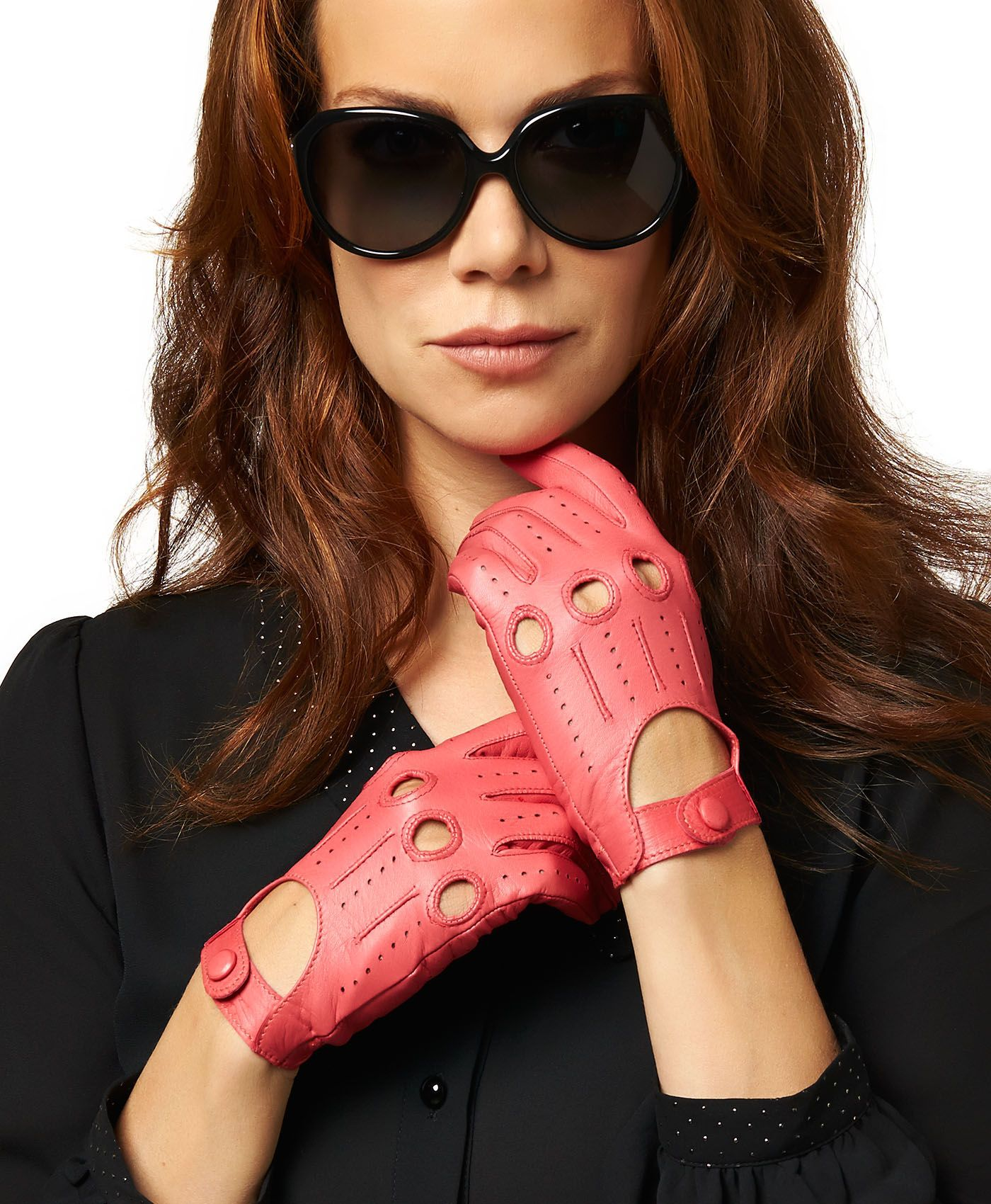 Driving gloves girl - Women S Open Back Leather Driving Gloves By Fratelli Orsini Everyday Free Usa Shipping