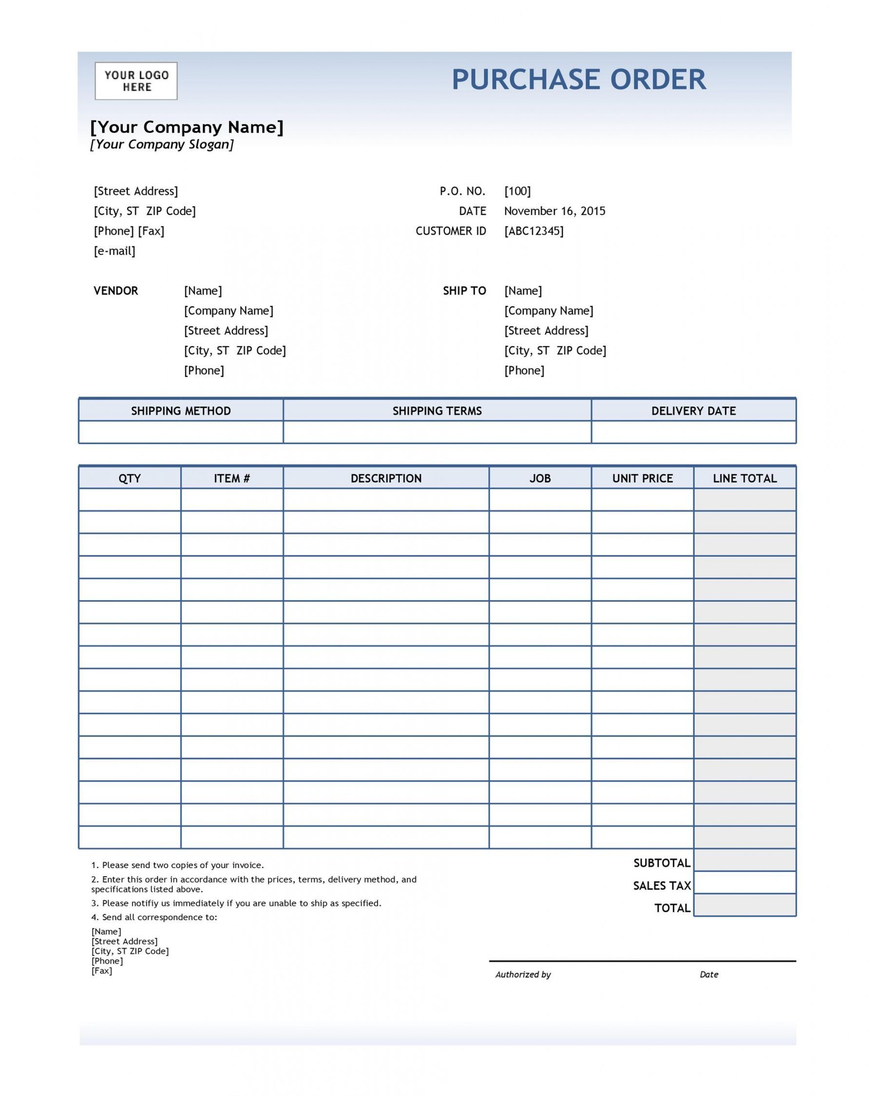 Explore Our Free Purchase Order Receipt Template Purchase Order Template Receipt Template Purchase Order