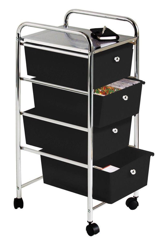 office trolley cart. Storage Trolley Cart Saloon Spa Organizer Rolling 4 Drawer Office Hair Stylist