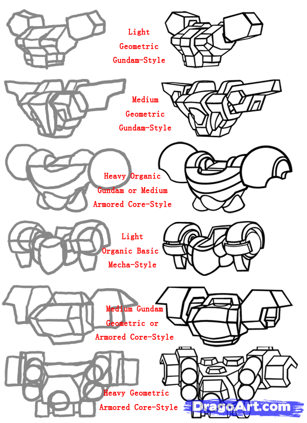 How To Draw Mecha Draw Anime Robots Step 7 Kelli Pinterest