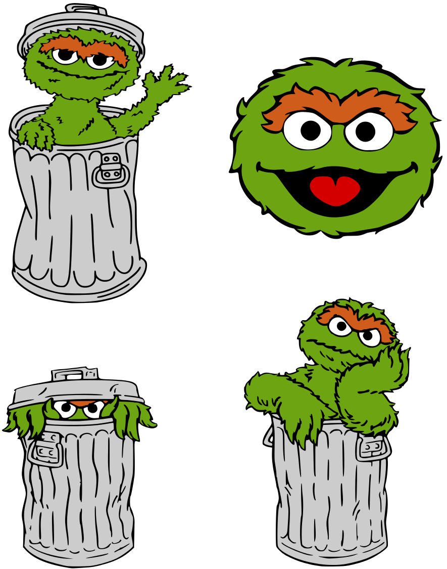 Krafty Nook: Sesame Street - Oscar the Grouch Fan Art | Elmo ...