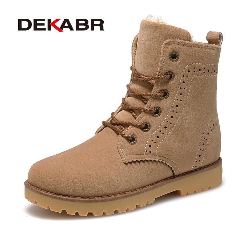 0ab2b14d62c DEKABR High Quality Men Boots Winter Snow Warm Casual Shoes Men ...