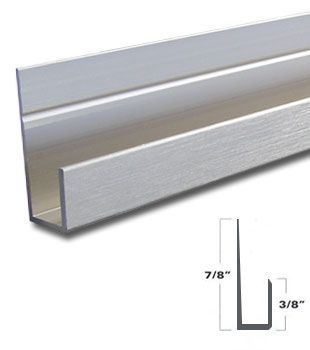 Brushed Nickel Aluminum J Channel For 1 4 Mirror Support 95 Long Wall Installation Brushed Nickel Mirrors Edge