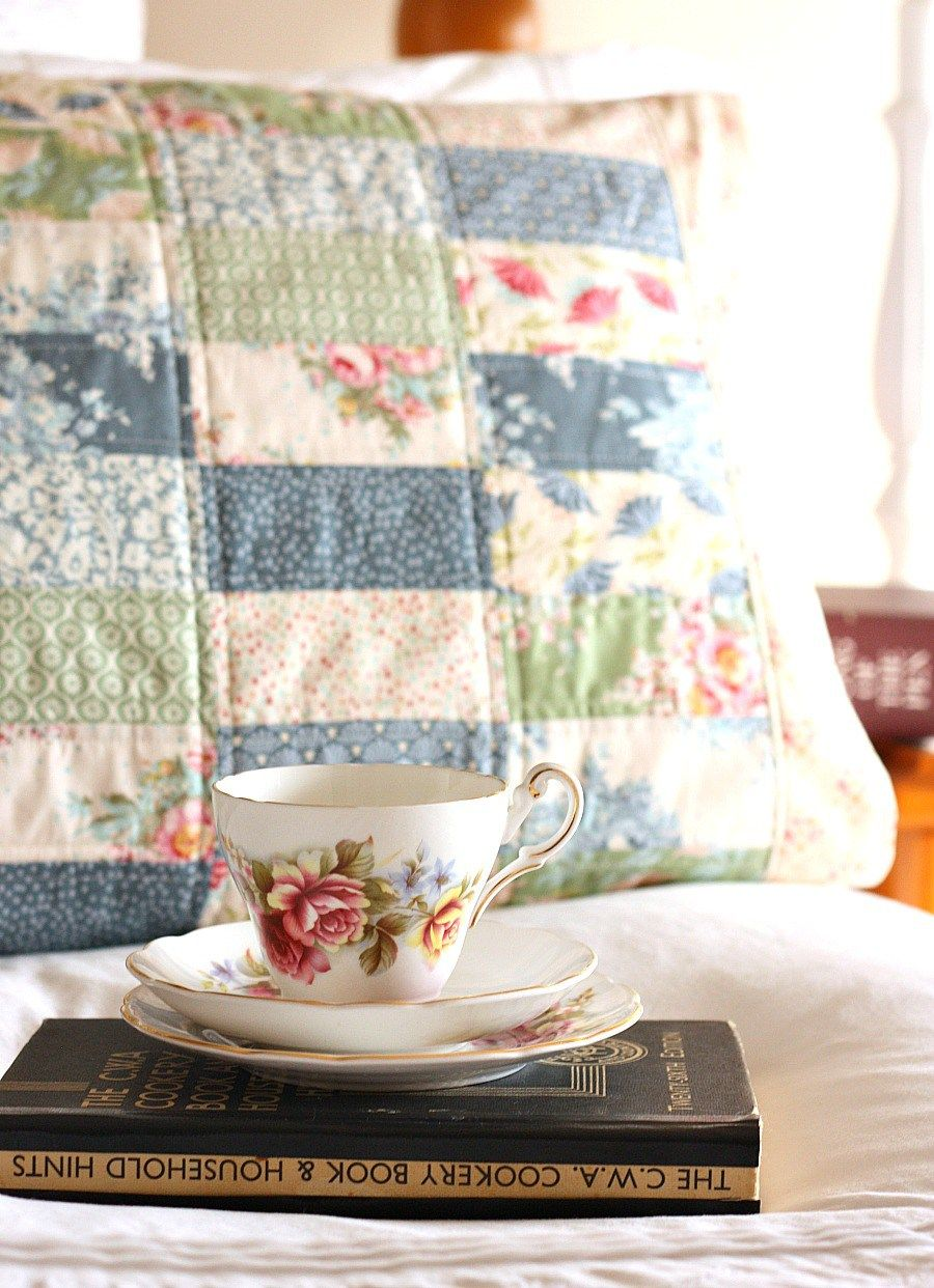 Pretty Patchwork Pillow Sham - Sewing Pattern by A Spoonful of ... : quilted pillow sham pattern - Adamdwight.com