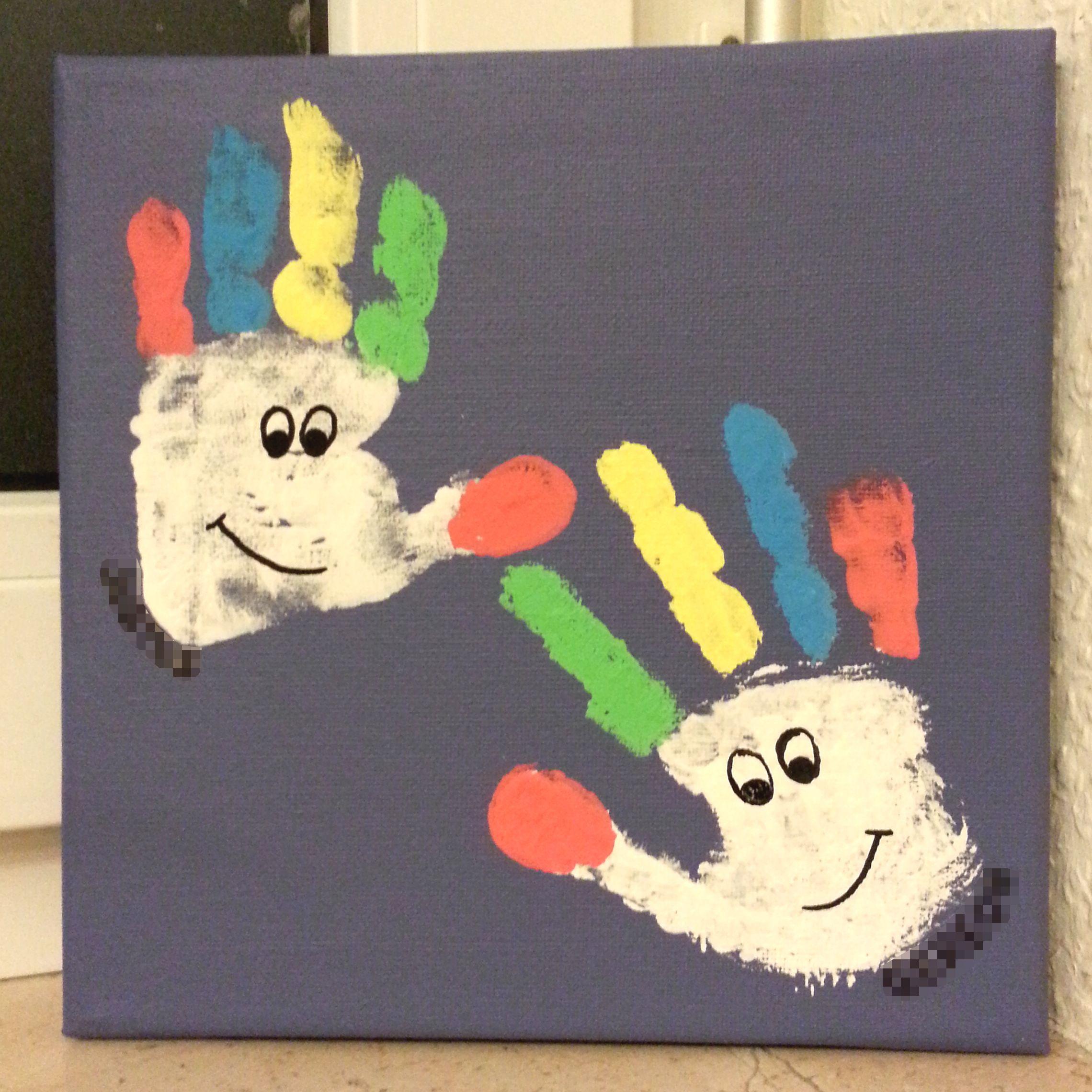 Clowns aus Handabdrücken. Alaaf! | Basteln | Pinterest | Kreative ...