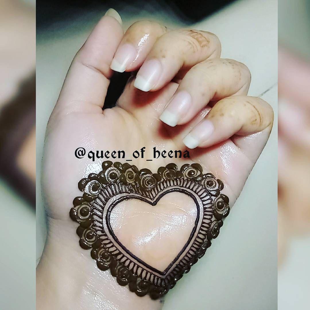 Simple Heart Henna Designs: Pin On Henné