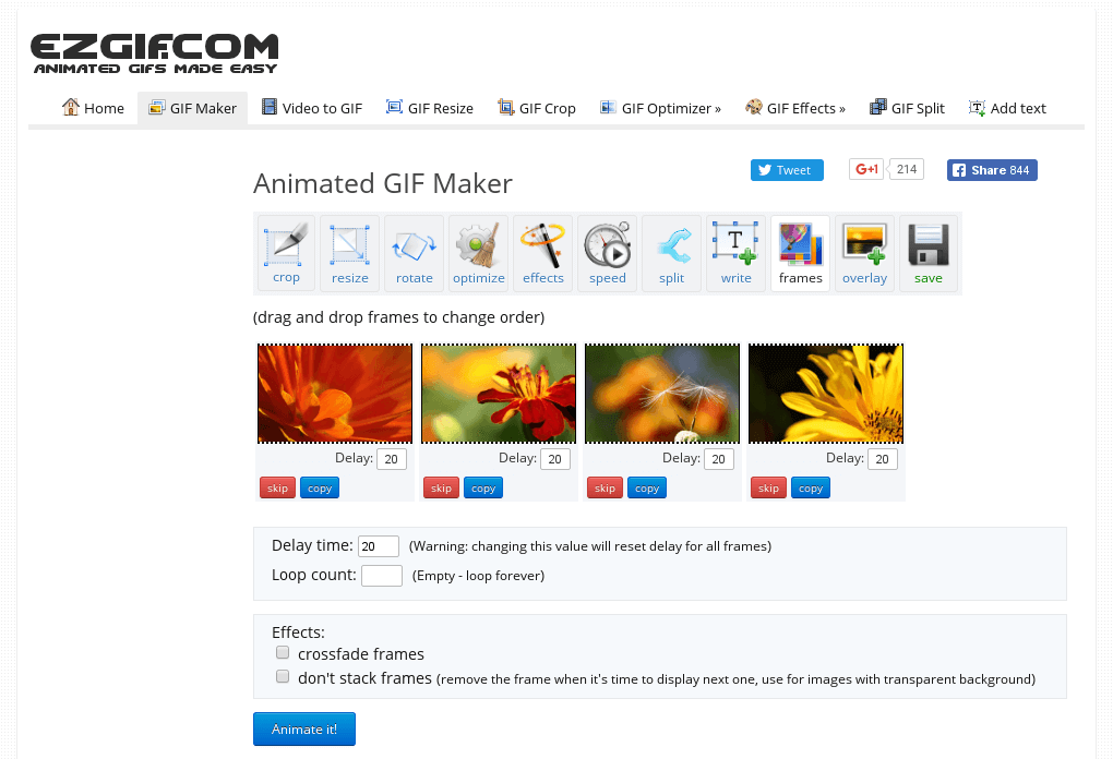 Online Gif Maker Where You Can Create Animated Gifs Banners