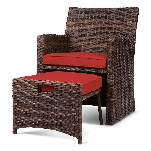 Halsted 5 Piece Wicker Small Space Patio Furniture Set Threshold