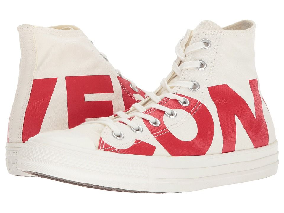 Converse Chuck Taylor(r) All Star Workmark Hi Classic Shoes Natural Enamel  Red Egret 47769932a