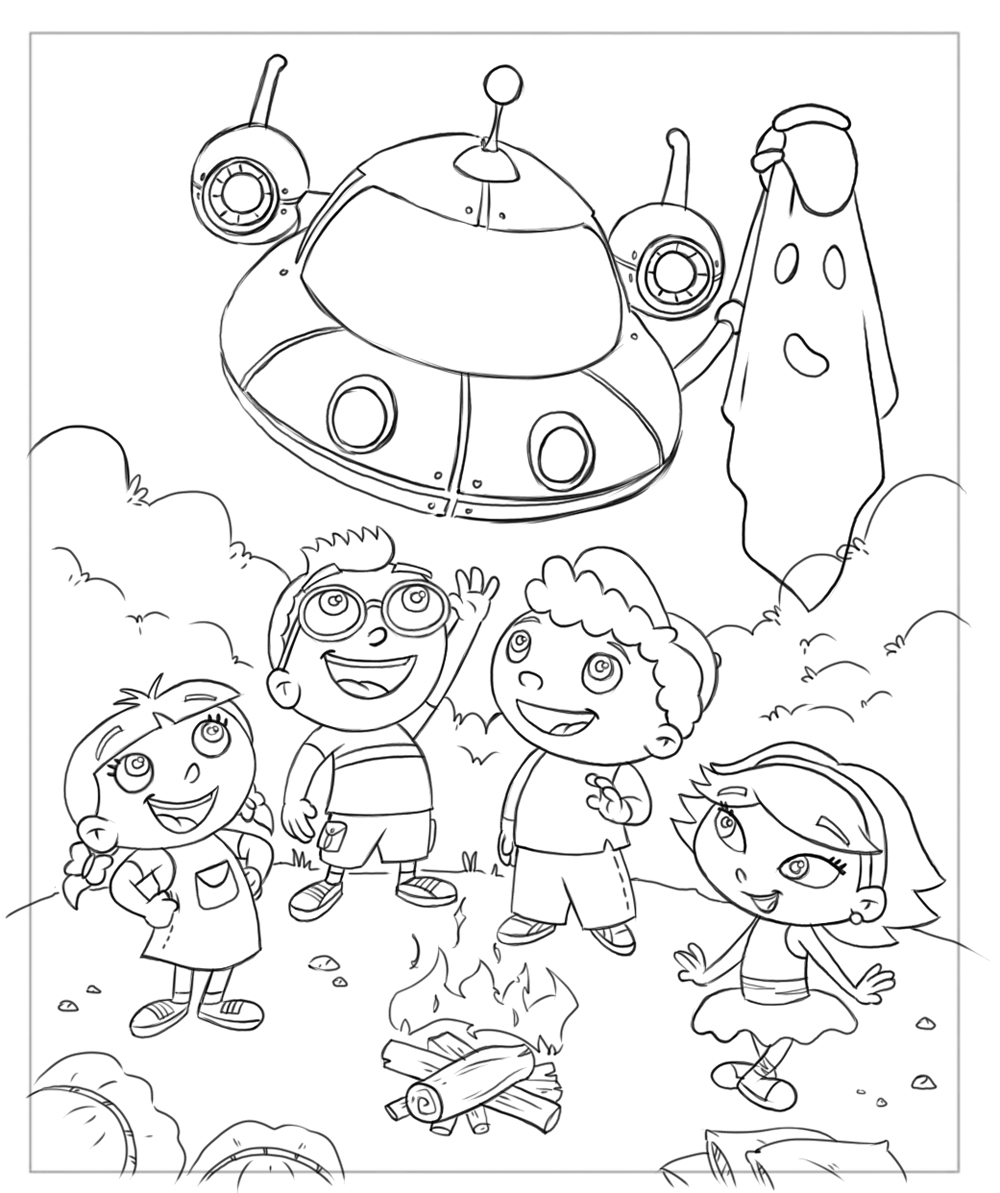 Fr free coloring pages for june - Little Einstein Coloring Page