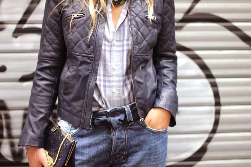 Leo Macaron Zoe Bassetto Blog Mode Beaute Lifestyle Lyon Veste Logo Biker Jacket Mode