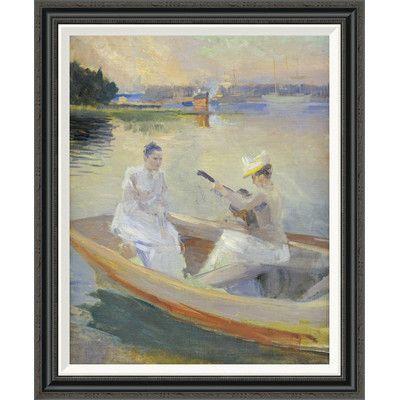 Global Gallery 'Summer Evening, Borga Harbour' by Albert Edelfelt Framed Painting Print Size: