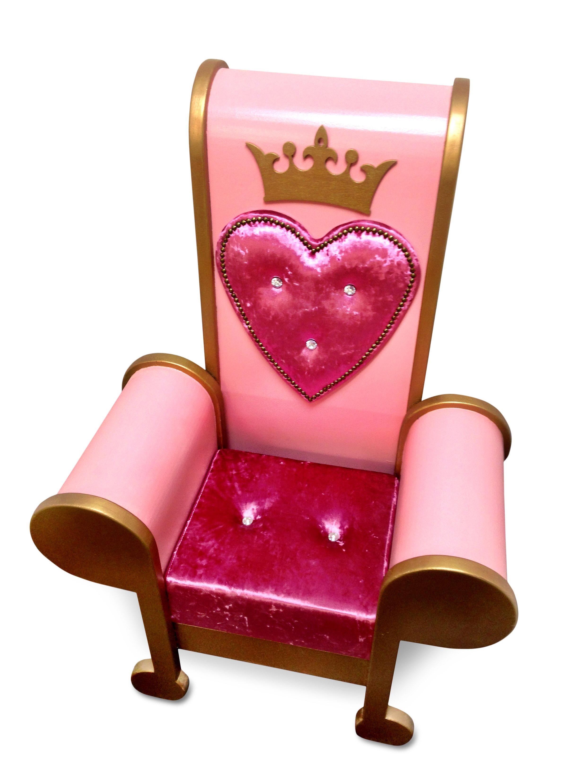 Princess throne chair - Stunning Princess Throne Chair With Crushed Velvet And Crystal Stud Seat This Hand Made Quality